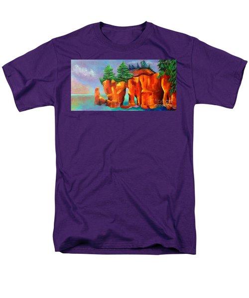 Red Fjord Men's T-Shirt  (Regular Fit) by Elizabeth Fontaine-Barr
