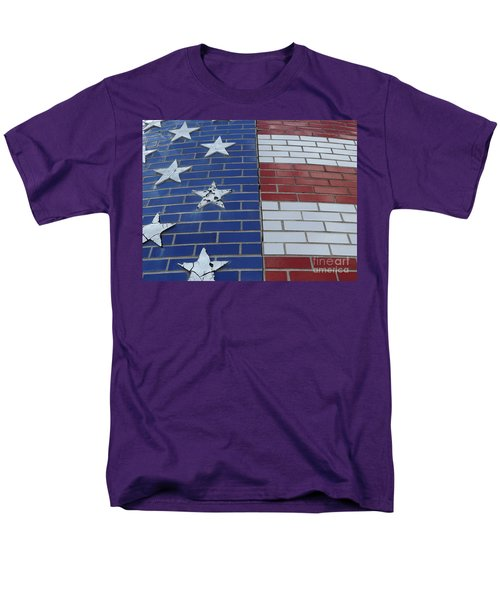 Red White And Blue On Brick Men's T-Shirt  (Regular Fit) by Erick Schmidt