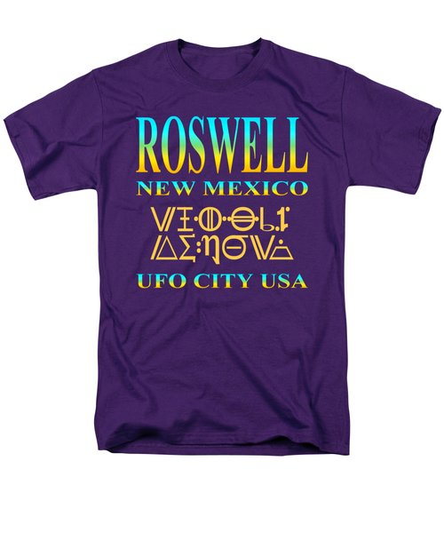 Roswell New Mexico - Ufo City Usa Tshirt Design Men's T-Shirt  (Regular Fit) by Art America Gallery Peter Potter