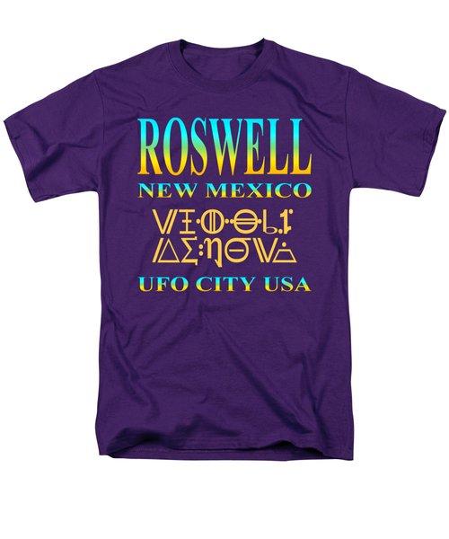 Roswell New Mexico - U. F. O. City U. S. A. Men's T-Shirt  (Regular Fit)