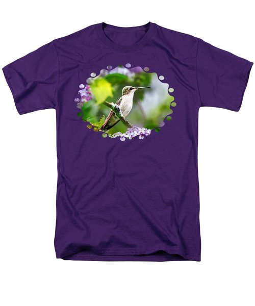 Ruby-throated Hummingbird-1 Men's T-Shirt  (Regular Fit) by Christina Rollo
