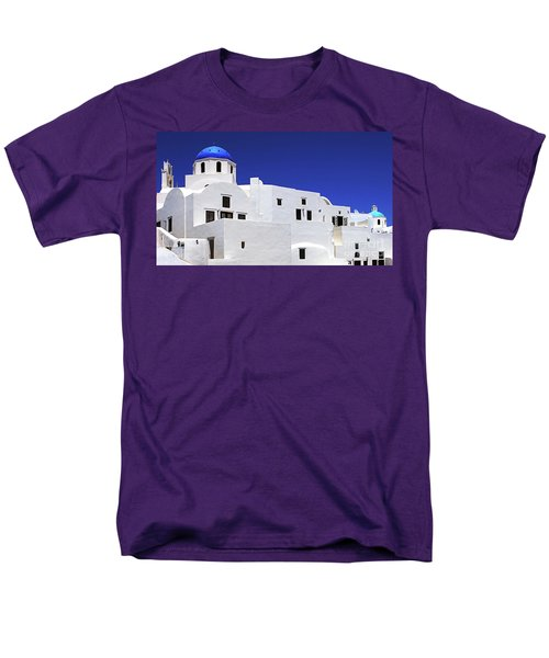 Santorini Greece Architectual Line 6 Men's T-Shirt  (Regular Fit) by Bob Christopher