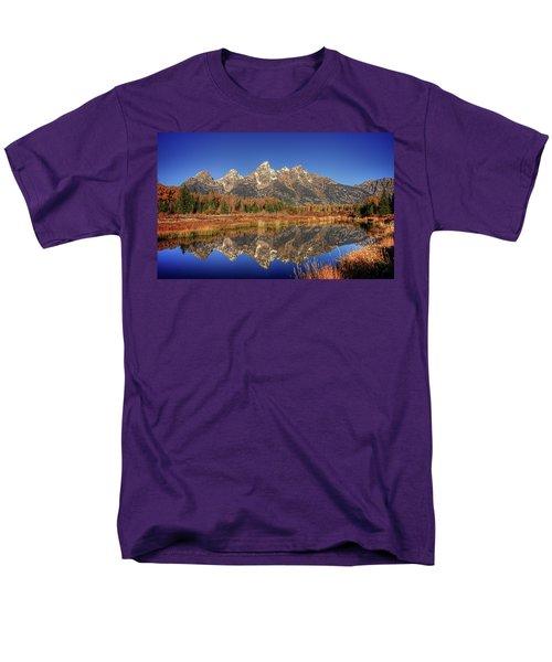 Schwabacher Landing Grand Teton National Park Men's T-Shirt  (Regular Fit) by James Hammond