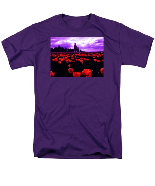 Men's T-Shirt  (Regular Fit) featuring the photograph Skagit Valley Tulips by Eddie Eastwood