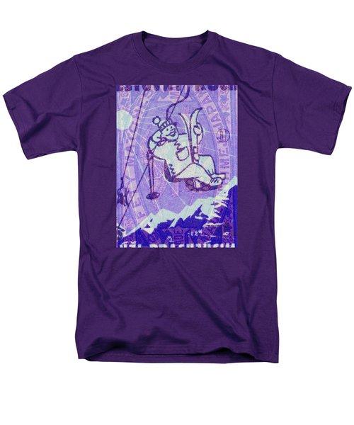 Men's T-Shirt  (Regular Fit) featuring the digital art Ski Match Salute by Nop Briex