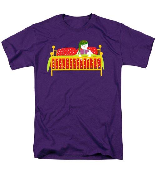 Snowman Bedtime Men's T-Shirt  (Regular Fit) by Barbara Moignard