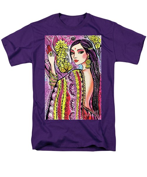 Men's T-Shirt  (Regular Fit) featuring the painting Soul Of India by Eva Campbell