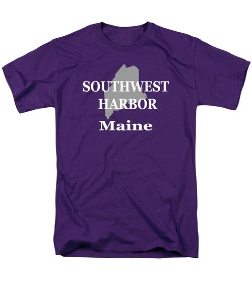 Men's T-Shirt  (Regular Fit) featuring the photograph Southwest Harbor Maine State City And Town Pride  by Keith Webber Jr