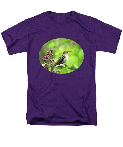 Spring Beauty Ruby Throat Hummingbird Men's T-Shirt  (Regular Fit)