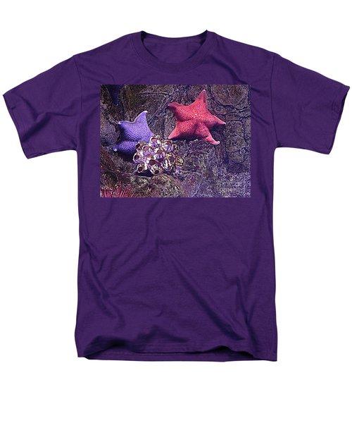 Starfish Pink Starfish Blue Men's T-Shirt  (Regular Fit) by Richard W Linford