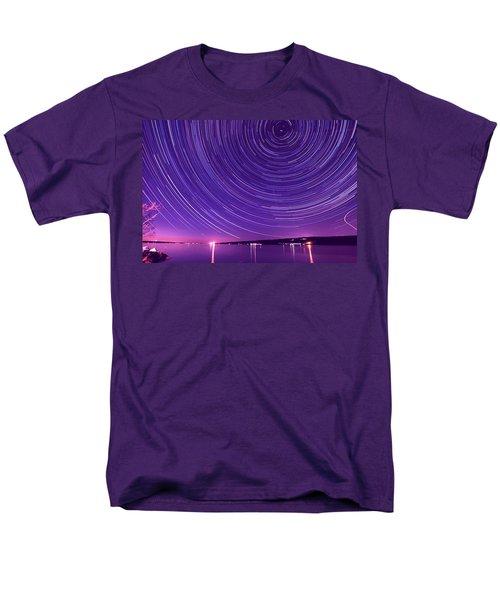 Starry Night Of Cayuga Lake Men's T-Shirt  (Regular Fit) by Paul Ge