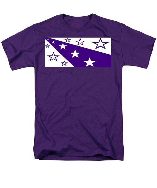 'stars 21' Or 'purple Stars' Men's T-Shirt  (Regular Fit) by Linda Velasquez