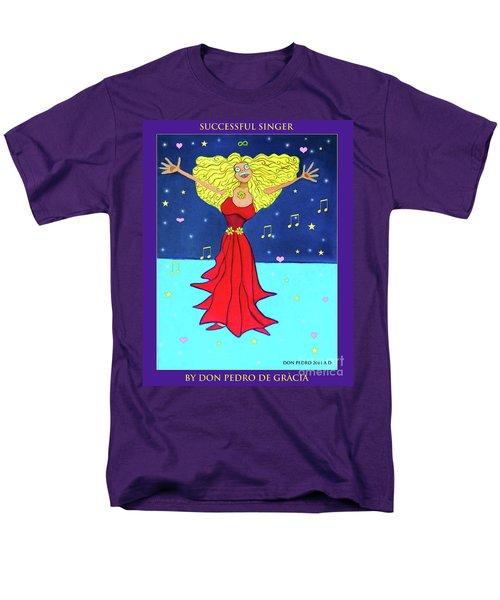 Successful Singer. Men's T-Shirt  (Regular Fit) by Don Pedro De Gracia