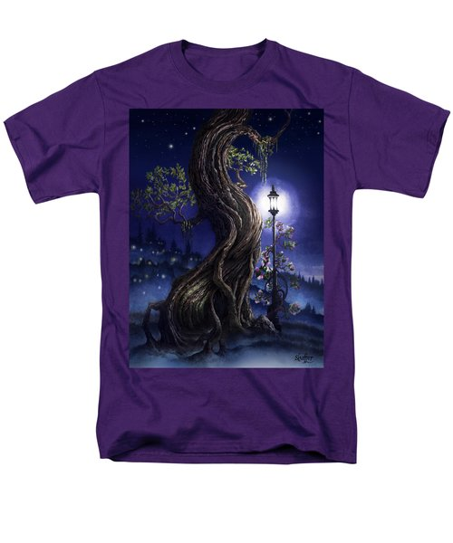 Sylvia And Her Lamp At Dusk Men's T-Shirt  (Regular Fit) by Curtiss Shaffer