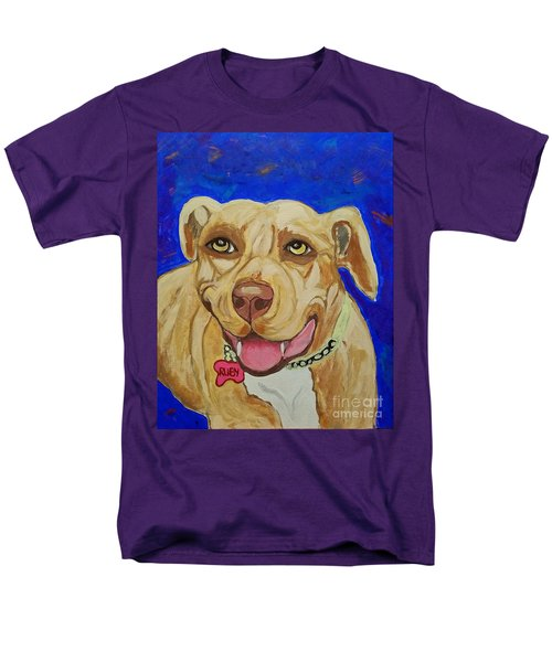 Men's T-Shirt  (Regular Fit) featuring the painting That Smile by Ania M Milo