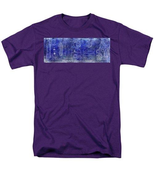The History Of Baseball Patents Blue Men's T-Shirt  (Regular Fit) by Jon Neidert