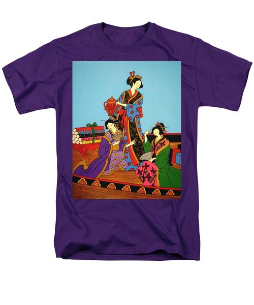 Men's T-Shirt  (Regular Fit) featuring the painting Three Geishas by Stephanie Moore