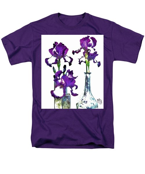 Three Irises In Vases Men's T-Shirt  (Regular Fit) by Marsha Heiken