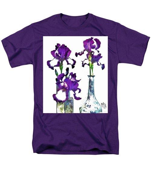 Three Irises In Vases Men's T-Shirt  (Regular Fit)