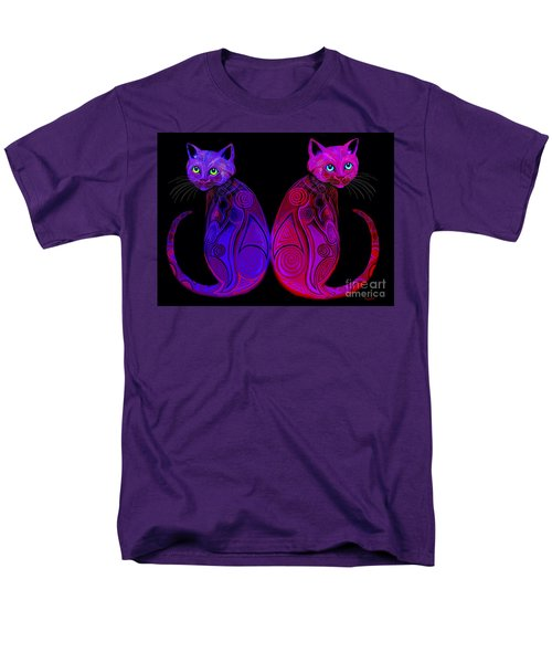 Men's T-Shirt  (Regular Fit) featuring the digital art Tribal Cats by Nick Gustafson