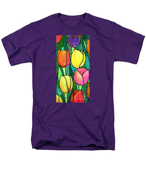 Men's T-Shirt  (Regular Fit) featuring the painting Tulip Expo by Jim Harris