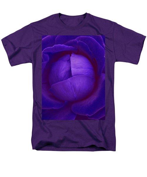 Velvet Blue Lettuce Rose Men's T-Shirt  (Regular Fit) by Samantha Thome
