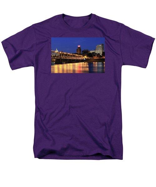 Walnut Street Bridge Men's T-Shirt  (Regular Fit) by Shelley Neff