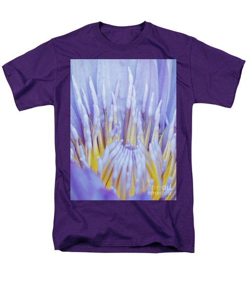 Water Lily Nature Fingers Men's T-Shirt  (Regular Fit) by Carol F Austin