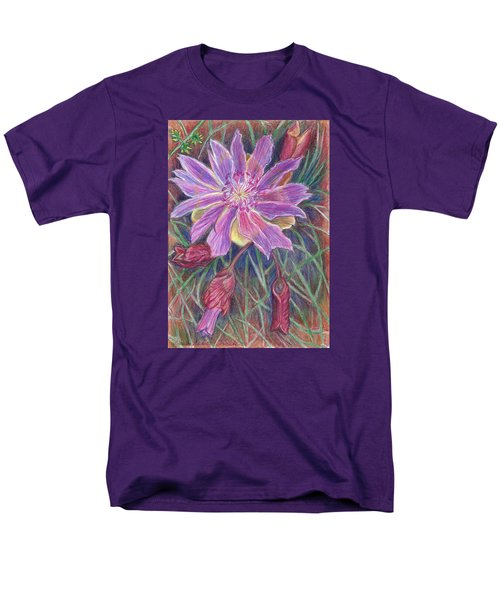 Men's T-Shirt  (Regular Fit) featuring the drawing Wild Bitterroot Flower by Dawn Senior-Trask
