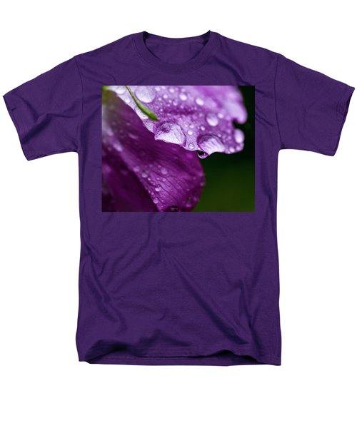Men's T-Shirt  (Regular Fit) featuring the photograph Wild Rose Droplet by Darcy Michaelchuk