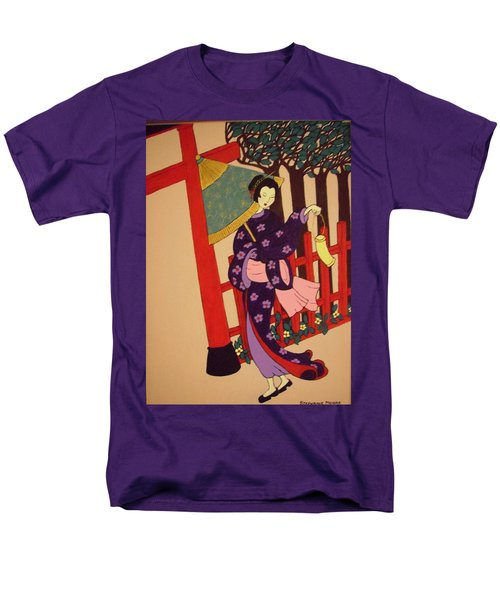 Men's T-Shirt  (Regular Fit) featuring the painting Windy Day by Stephanie Moore