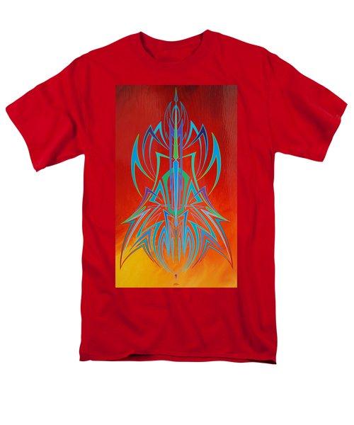 Desert Fire Storm Men's T-Shirt  (Regular Fit) by Alan Johnson