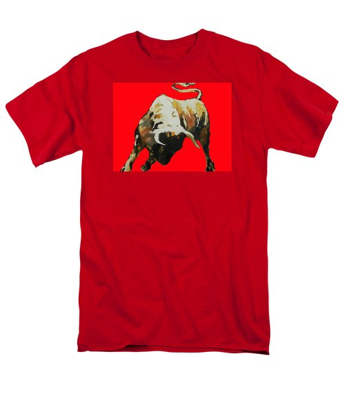 Fight Bull In Red Men's T-Shirt  (Regular Fit) by J- J- Espinoza