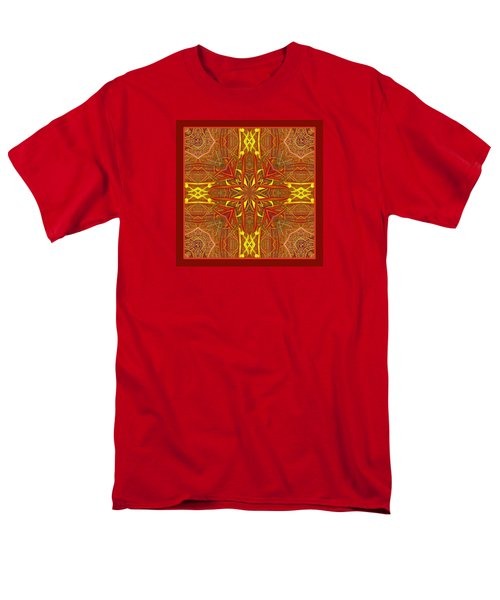 Men's T-Shirt  (Regular Fit) featuring the photograph  Keltic Cross by I'ina Van Lawick