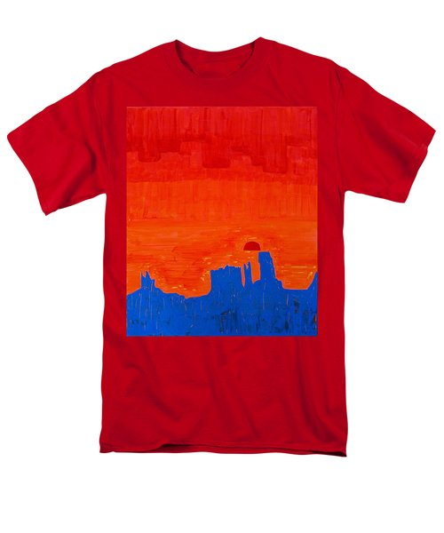 Monument Valley Original Painting Men's T-Shirt  (Regular Fit) by Sol Luckman