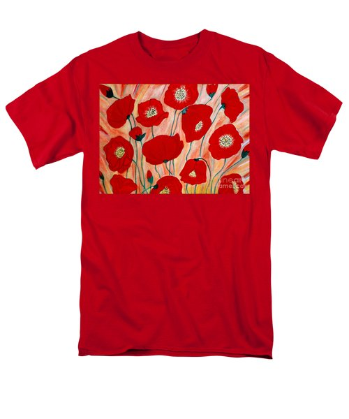 Poppies. Inspirations Collection. Men's T-Shirt  (Regular Fit)