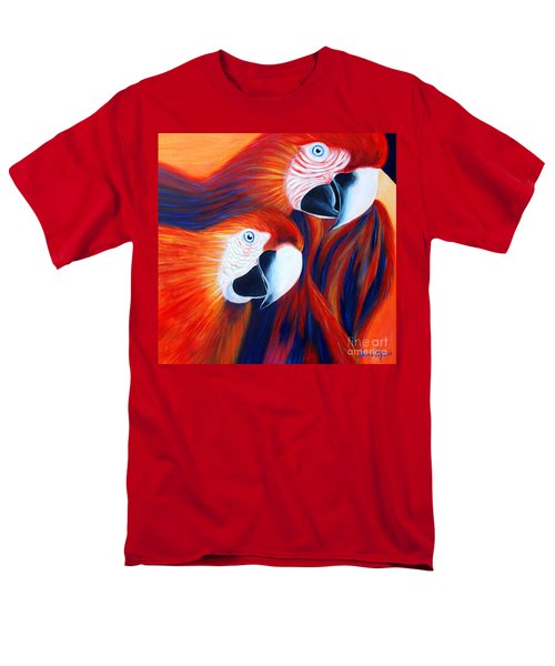 Men's T-Shirt  (Regular Fit) featuring the painting Two Parrots. Inspirations Collection. by Oksana Semenchenko
