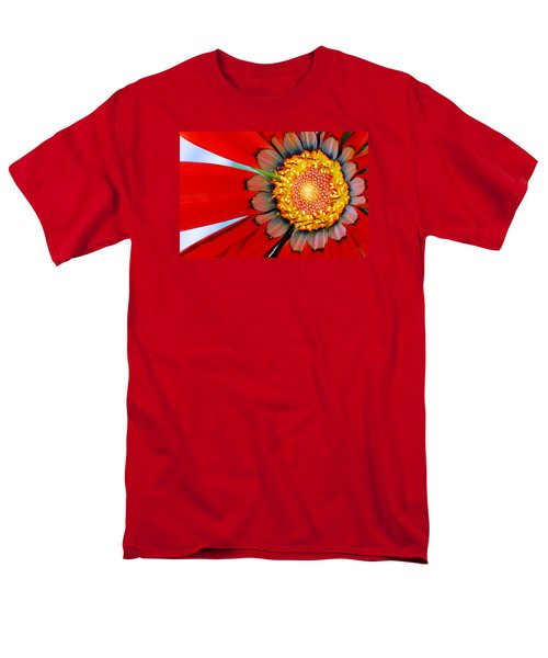 Men's T-Shirt  (Regular Fit) featuring the photograph Zinnia In Red by Wendy Wilton