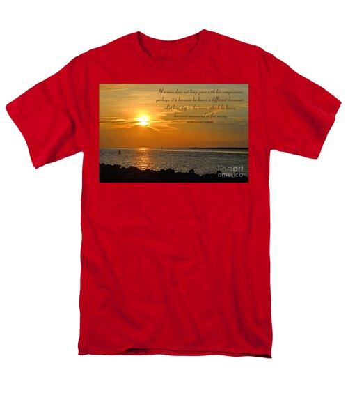 180- Henry David Thoreau Men's T-Shirt  (Regular Fit) by Joseph Keane