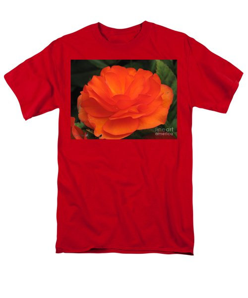 Men's T-Shirt  (Regular Fit) featuring the photograph Begonia Named Nonstop Apricot by J McCombie