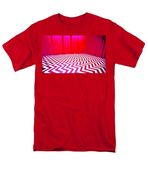 Men's T-Shirt  (Regular Fit) featuring the painting Black Lodge by Luis Ludzska