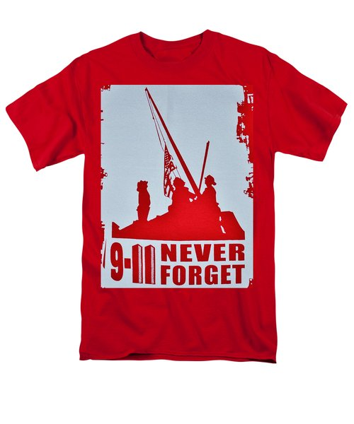 Men's T-Shirt  (Regular Fit) featuring the photograph 9-11 Never Forget Poster  by Bob Sample