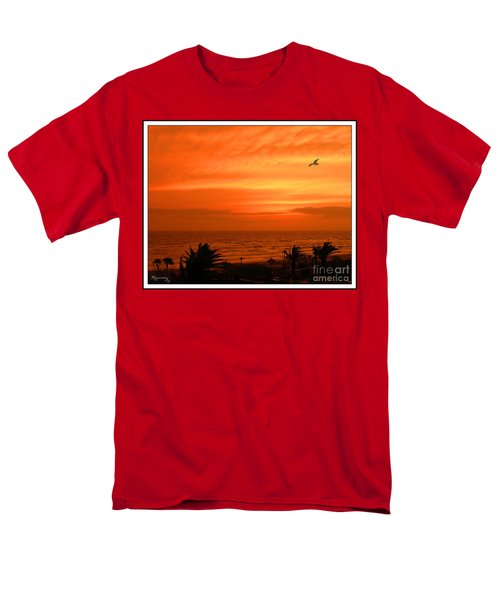 Men's T-Shirt  (Regular Fit) featuring the photograph Ablaze by Mariarosa Rockefeller