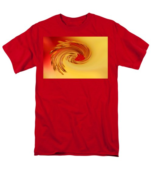 Men's T-Shirt  (Regular Fit) featuring the photograph Abstract Swirl Hibiscus Flower by Debbie Oppermann