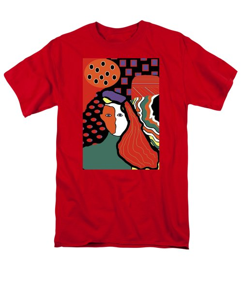 Abstract Lady Men's T-Shirt  (Regular Fit)