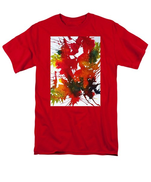 Abstract - Riot Of Fall Color II - Autumn Men's T-Shirt  (Regular Fit) by Ellen Levinson