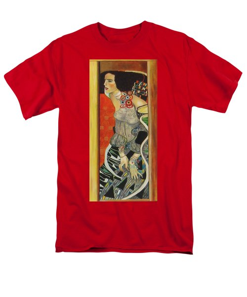 Men's T-Shirt  (Regular Fit) featuring the painting After Gustav Klimt by Sylvia Kula