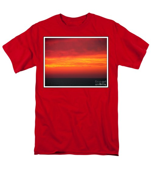 Men's T-Shirt  (Regular Fit) featuring the photograph Afterglow by Mariarosa Rockefeller