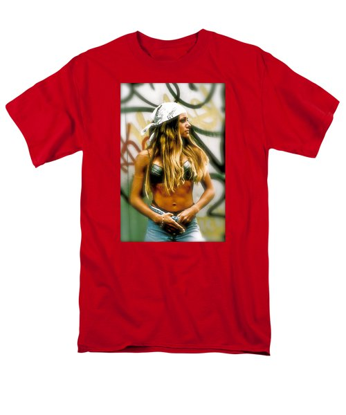 Men's T-Shirt  (Regular Fit) featuring the photograph American Grunge  by Iconic Images Art Gallery David Pucciarelli