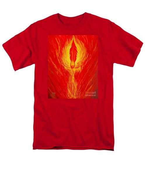 Angel Fire Men's T-Shirt  (Regular Fit) by Nancy Cupp